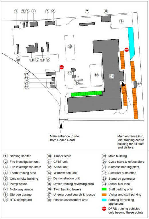 JTC parking and external facilities map