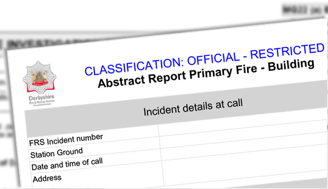 Incident reports and fire investigation reports