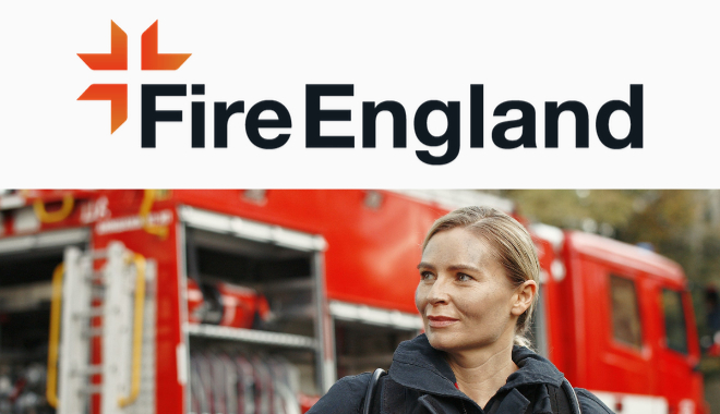 Fire England logo and strap line.