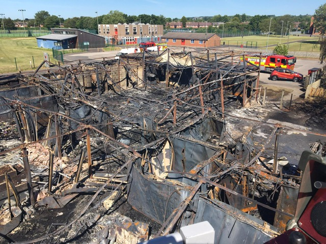 Long Eaton School damaged after fire