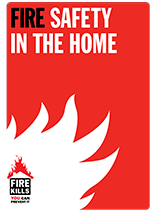 Cover image for Fire safety in the home (Large print)