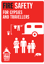Cover image for Fire safety for Gypsies and Travellers