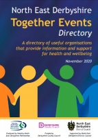 front cover of north east derbyshire together events directory